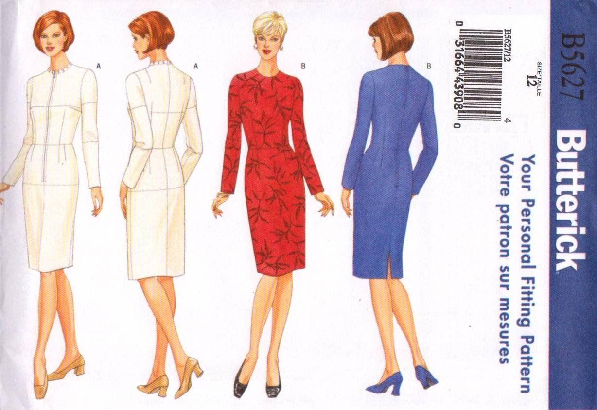 Butterick sewing pattern b misses size fitting shell