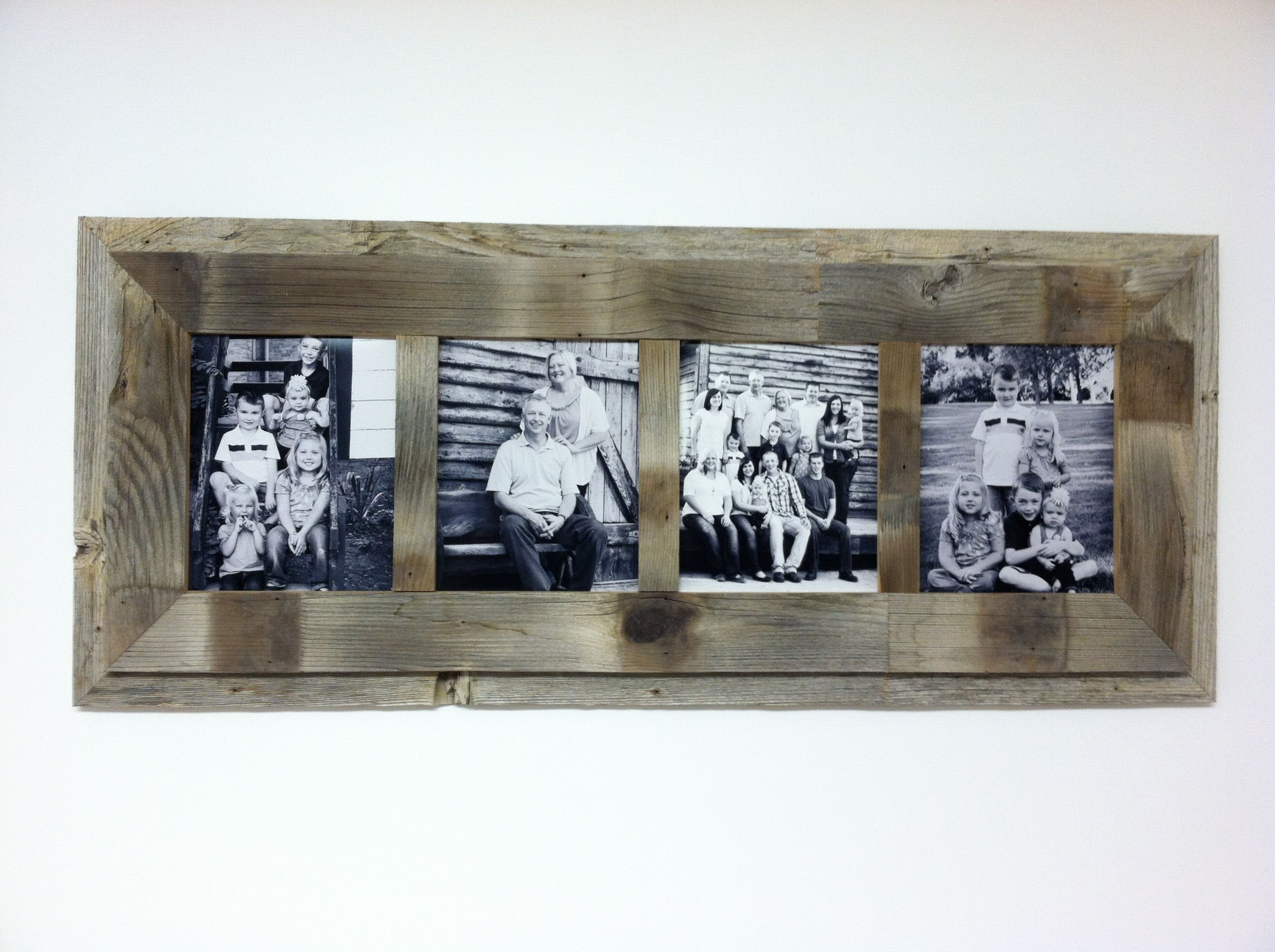 Reclaimed barn wood frame, 4-8x10. Made by Historic Woods by Lunar ...