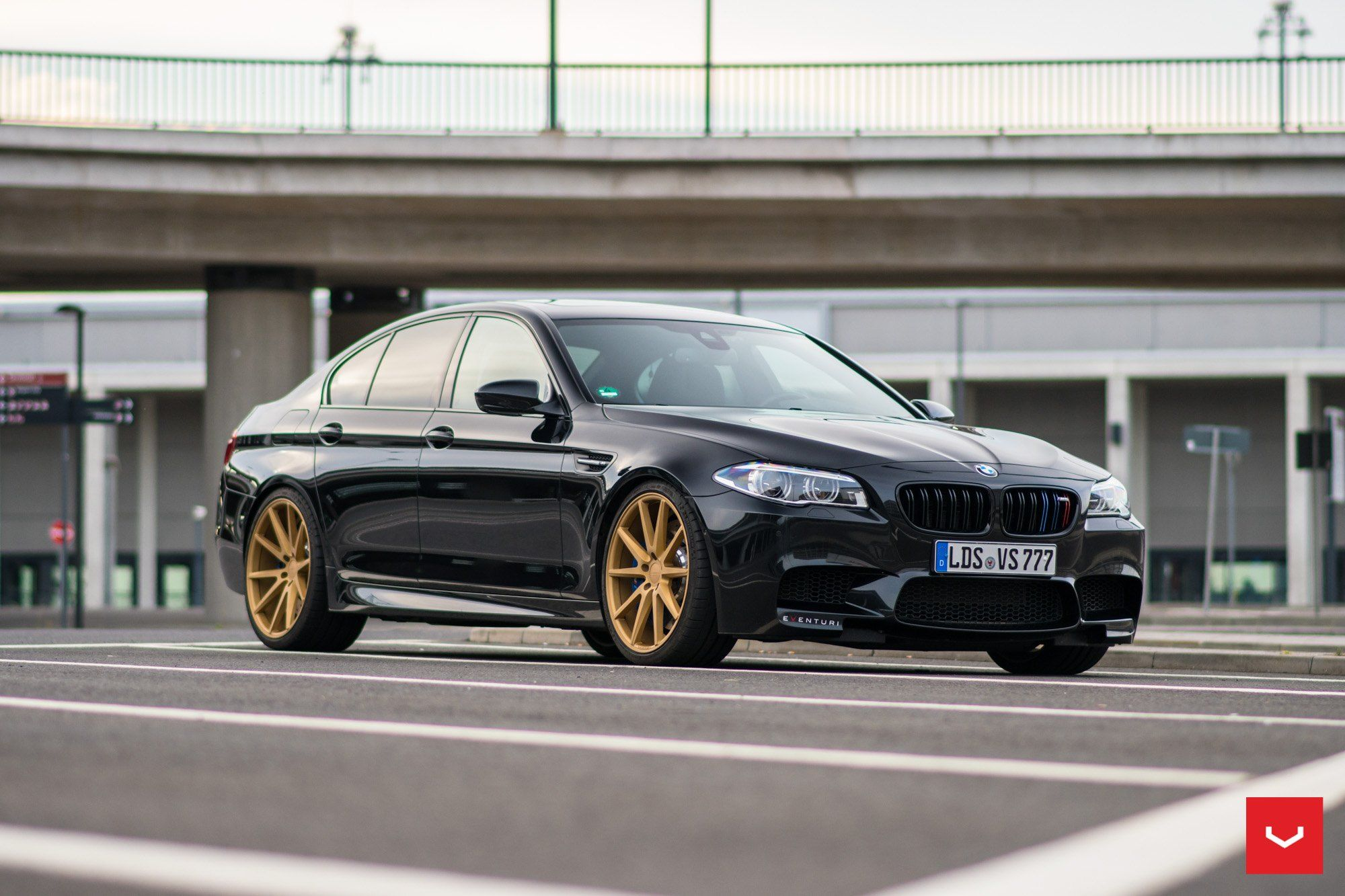 Bold Bmw 5 Series Sedan Rocking Gold Vossen Rims With Images