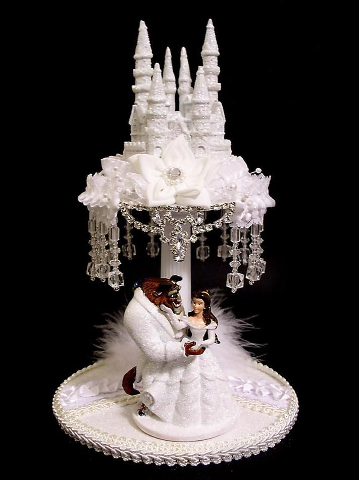 Disney Castle cake topper | Details about Lighted BEAUTY AND THE ...