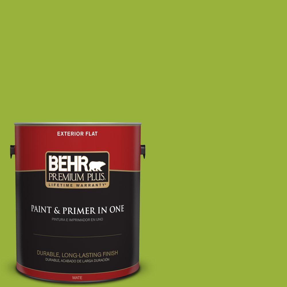 BEHR Premium Plus 1-gal. #410B-7 Bamboo Leaf Flat Exterior Paint