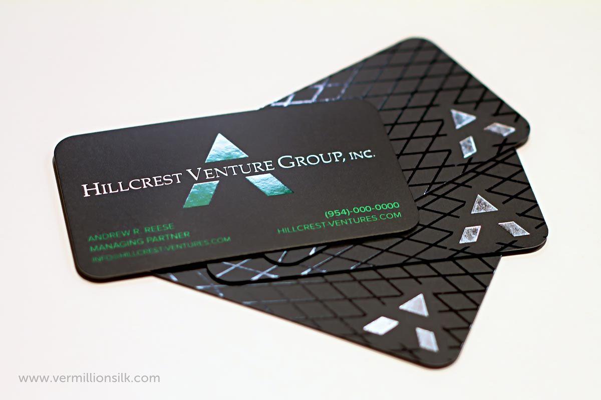 Vermillion Silk designed these unique business cards for Hillcrest ...