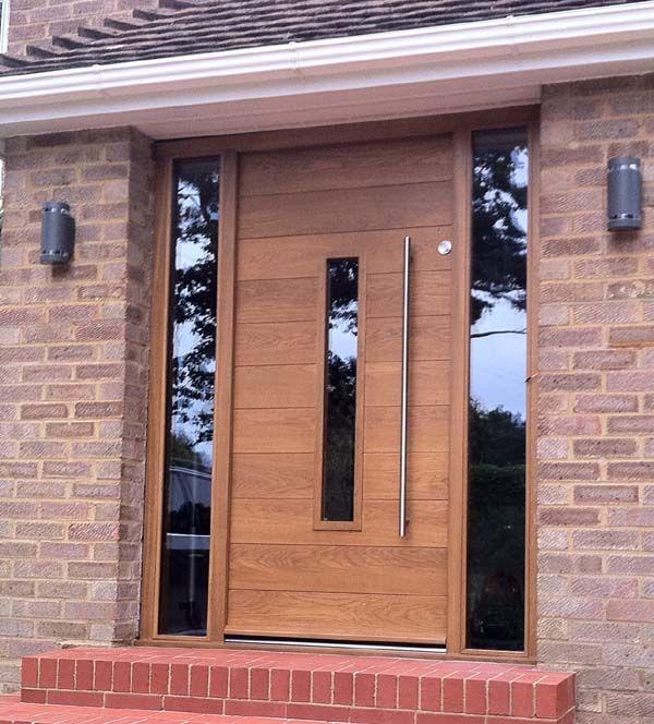 Cool wooden front door with glass! | Interior Barn Doors ...