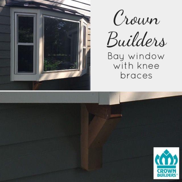 Custom Crown Builders Window Install   Bay Window With Knee Brace Support