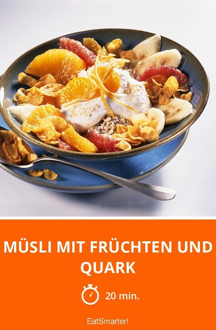 Müsli mit Früchten und Quark | Rezept | Quark, Rezepte ...