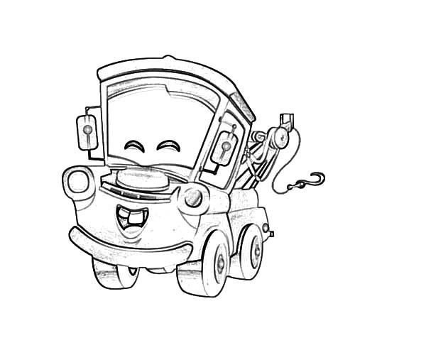 Mater, Tow Mater Happy Face Coloring Pages Tow Mater Happy Face - best of mcqueen coloring pages