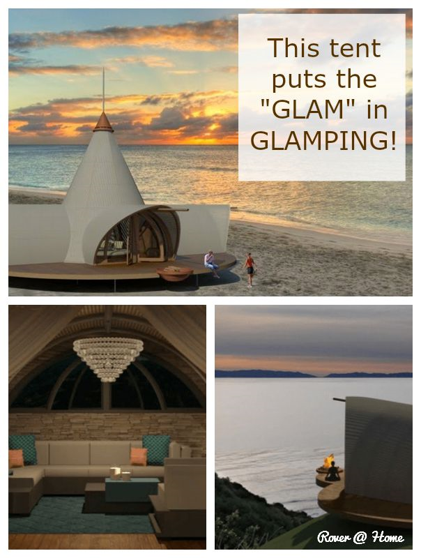 """This tent puts the """"GLAM"""" in GLAMPING!"""