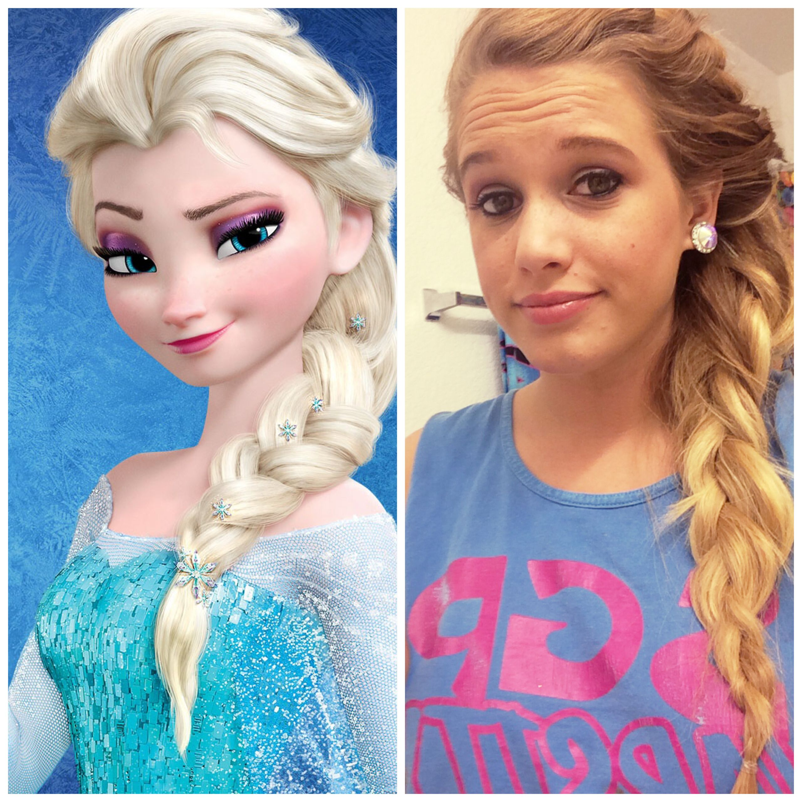 queen elsa frozen hair