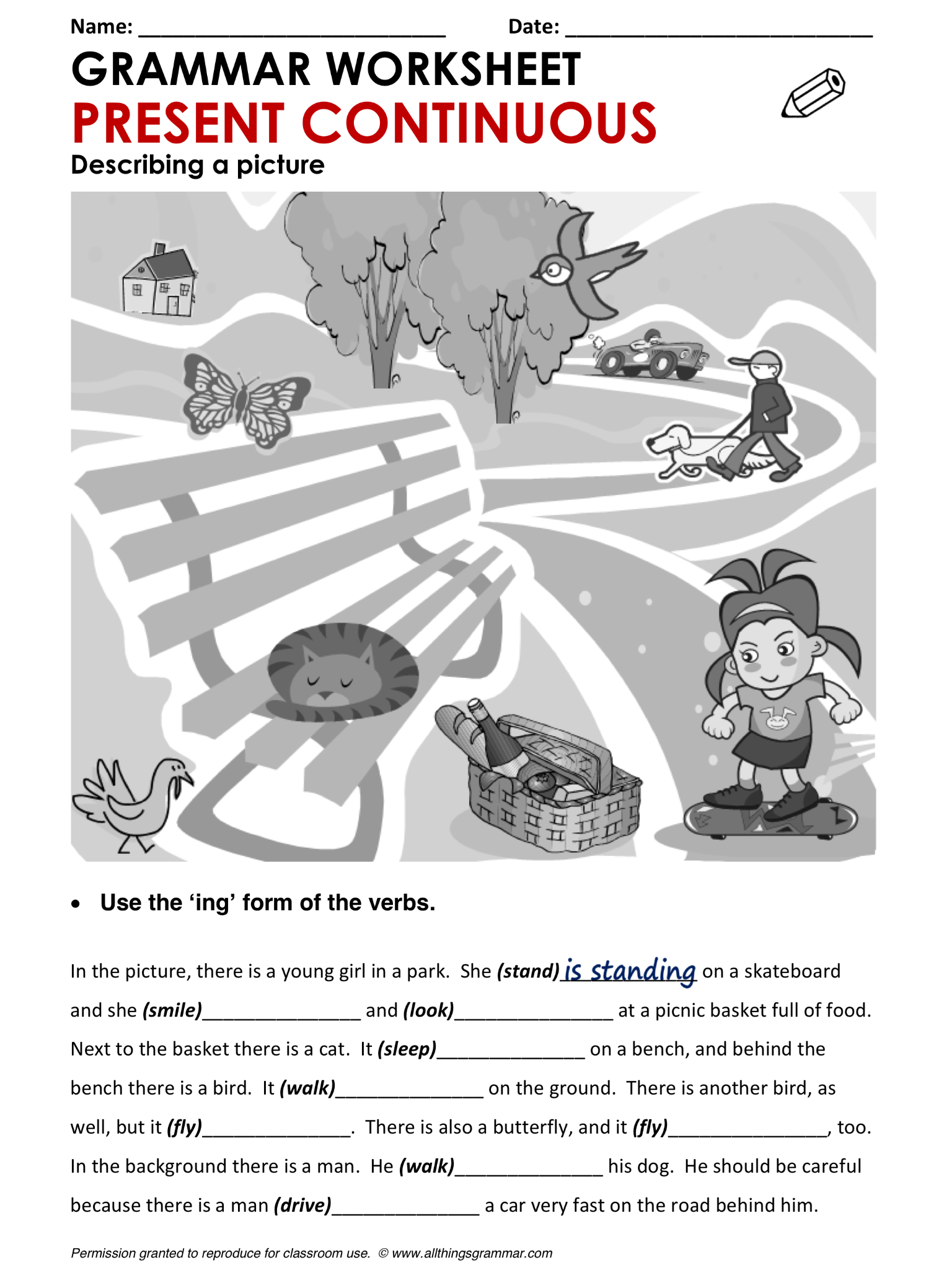 simple present tense sentences in english pdf