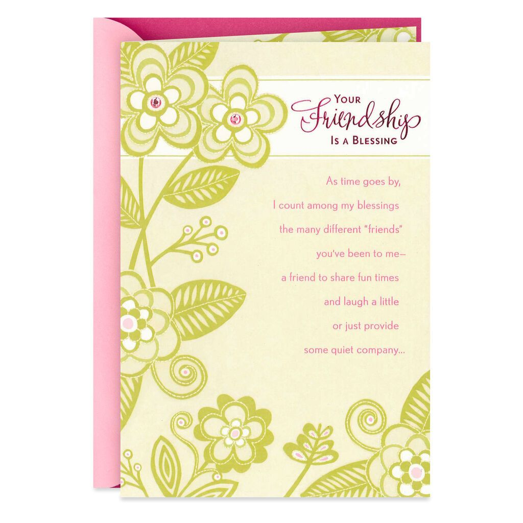 friendship is a blessing birthday card in 2020  birthday