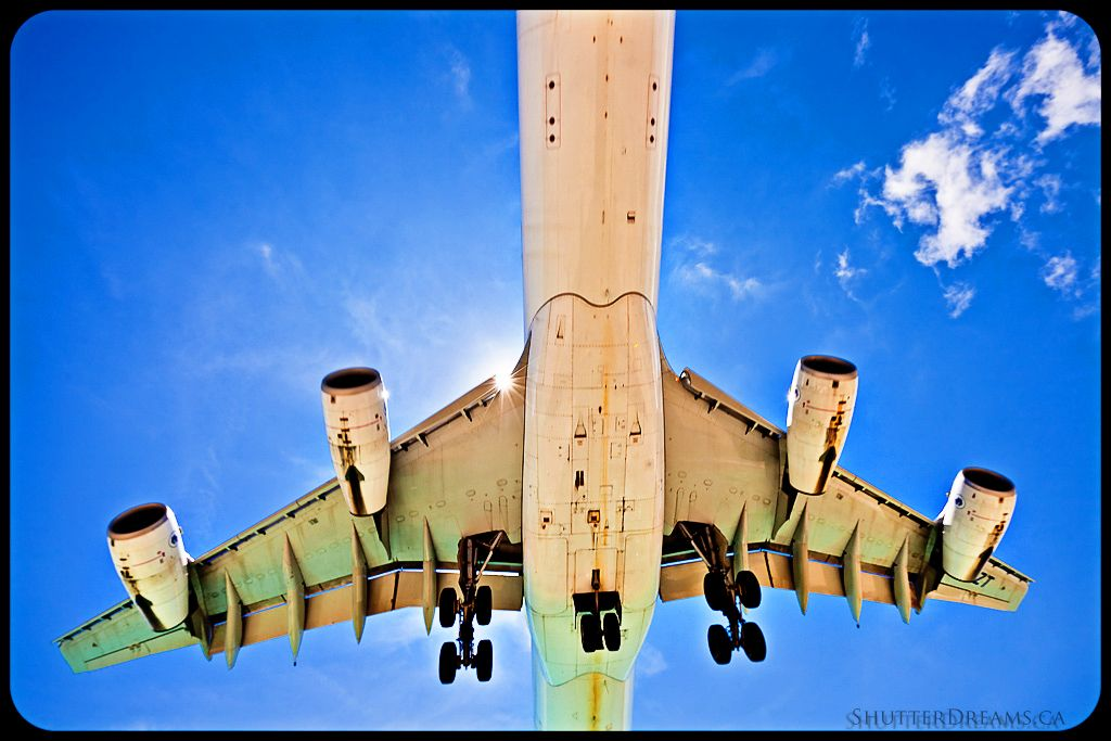 Maho Beach.  Nothing like being this close to a landing plane.  Taken with a wide angle lens, not zoom.