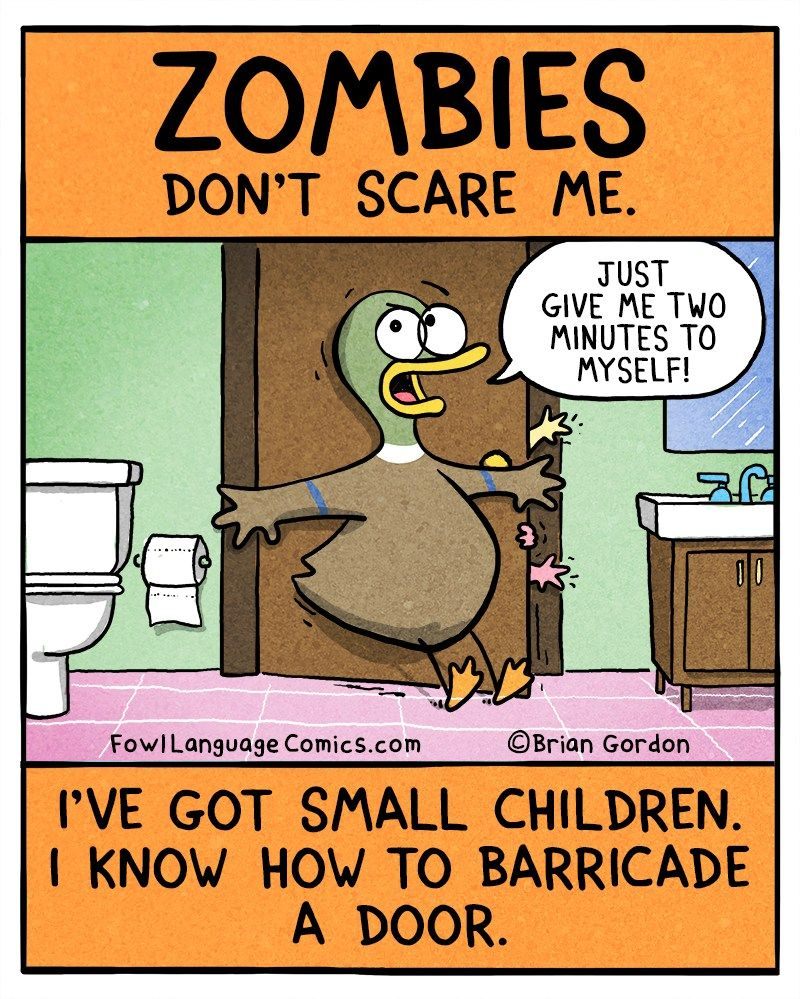 Zombies Fowl Language Comics Funny Quotes For Kids Funny Comics For Kids Mom Humor