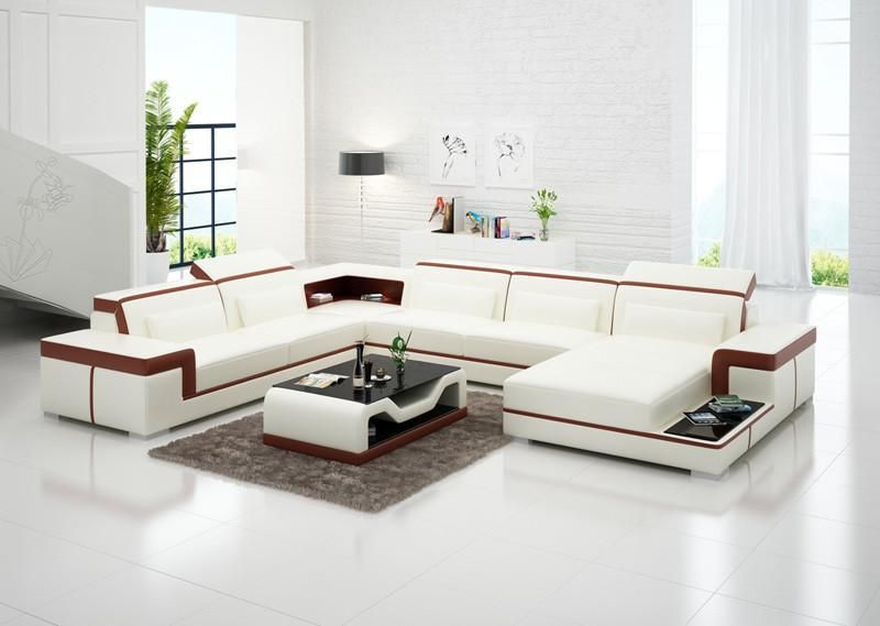 Contemporary Living Room Set In Black Red Or Cappuccino: Modern Living Room Sofa Set, Leather Sofas PLUS Coffee