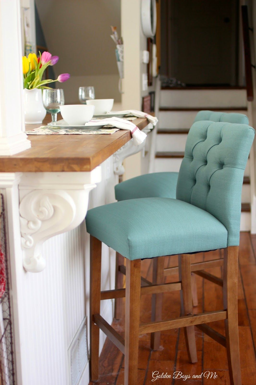 New Barstools | Target threshold, Block island and Butcher blocks