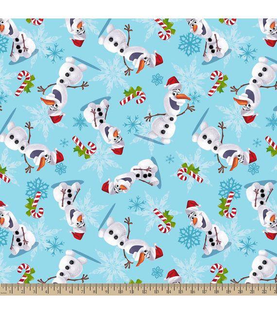 disney frozen olaf fleece holiday christmas fabric new - Disney Christmas Fabric