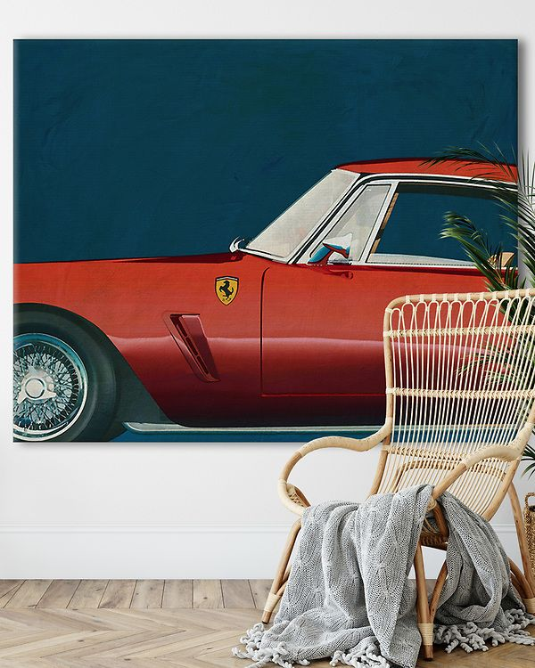 Interior Idea with Ferrari 250GT SWB Berlinetta 1957 on canvas | Fine Art Imagery by Jan Keteleer