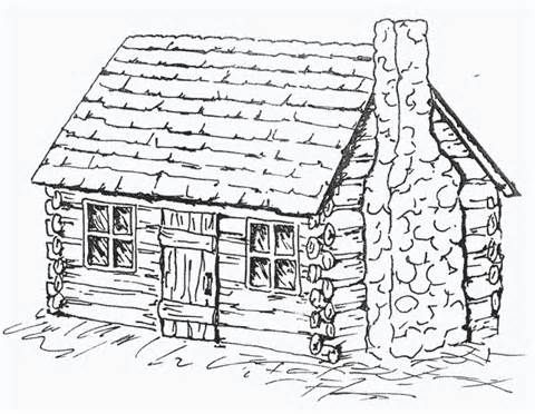 Free Coloring Pages Of Log Cabins Cabin Art House Colouring Pages Coloring Pages