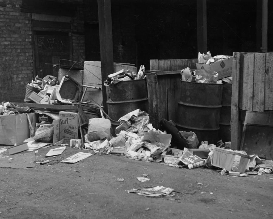 Englewood 414 W  69th Street tenement slum alley 1953