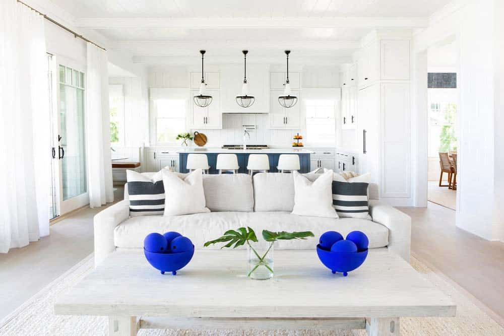 Breezy Beachfront Family Retreat With Timeless Interiors On Long Island Ny Custom Furniture Design Kitchen With Long Island North Fork
