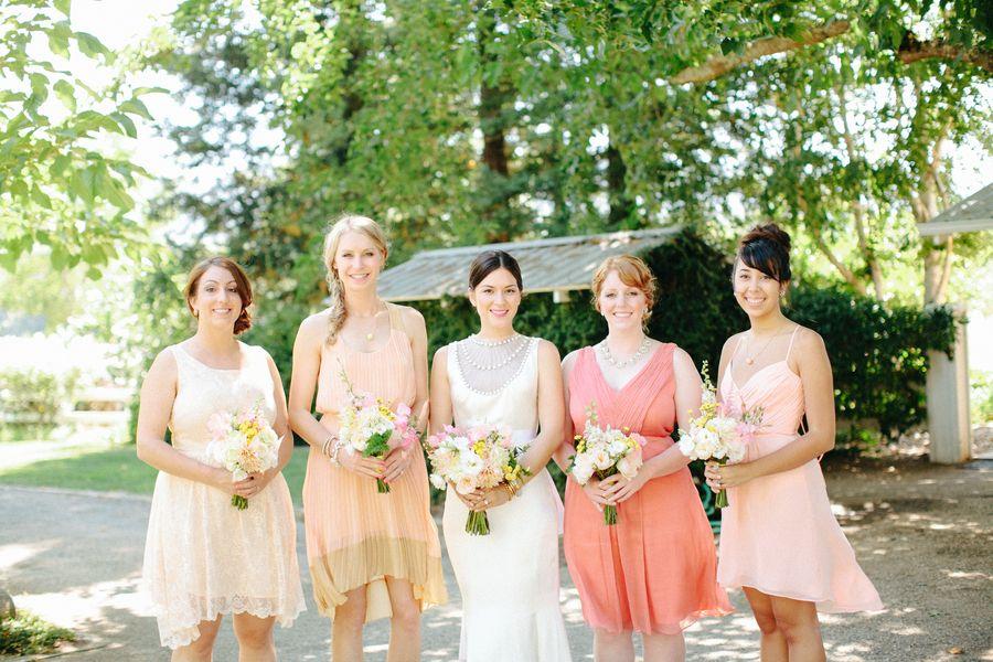 Mismatched Bridesmaid Sundresses Again Perfect Easy Breezey Right Blush Bridesmaids Bridesmaid Gorgeous Wedding