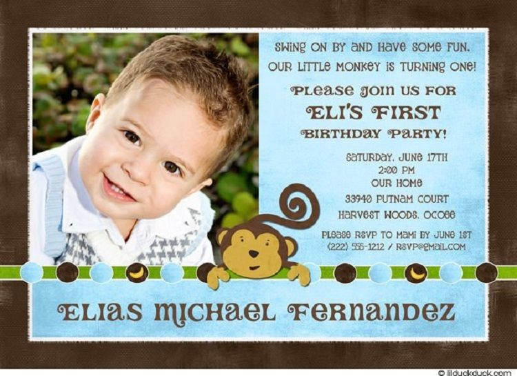 Unique Birthday Invitation Quotes For Baby Boy