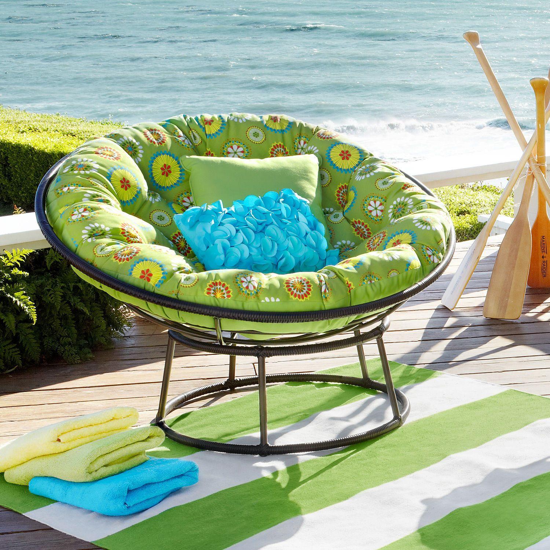 Pier 1 Citrus Daisy Papasan Cushion And Chair Base A