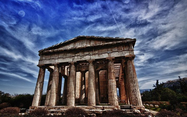 Perfect Roman Architecture Parthenon Temple Athens Greece Landmarks D Intended Design Decorating