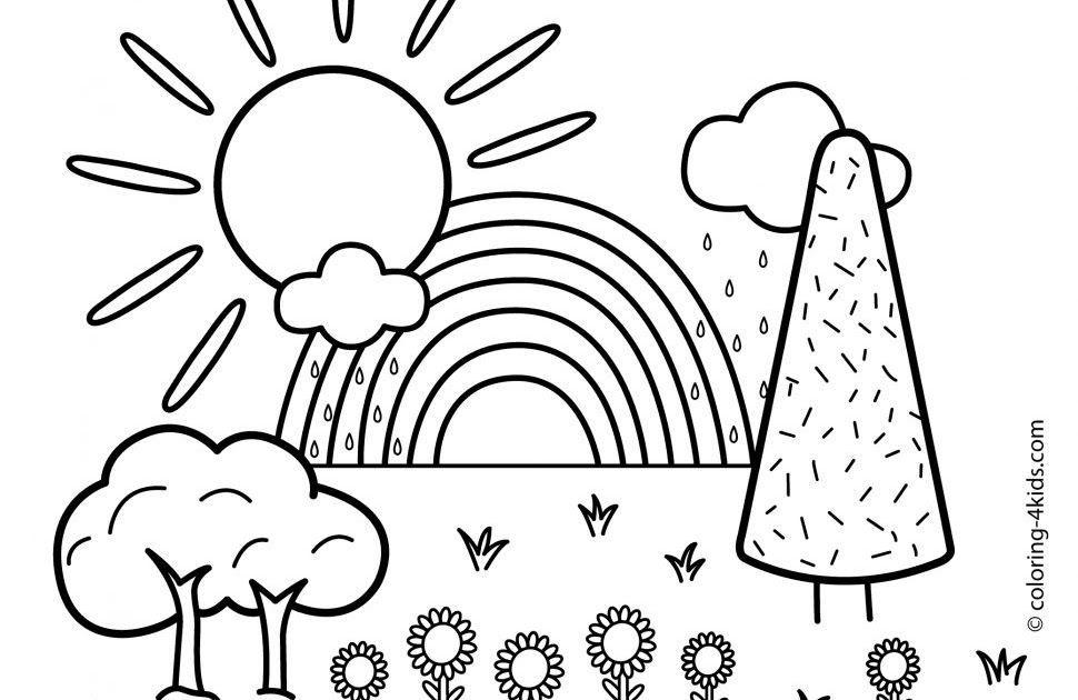 landscape coloring pages free printable #landscape # ...