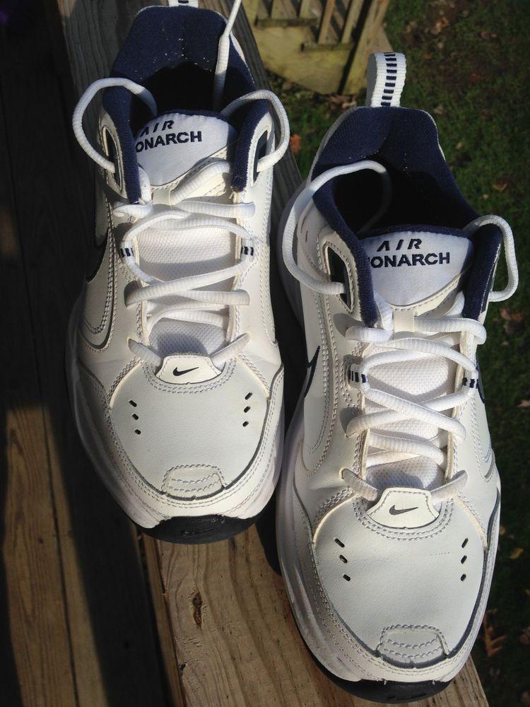 Nike Air Monarch Shoes US Men Size 8D Medium Width Full Length White/Silver/
