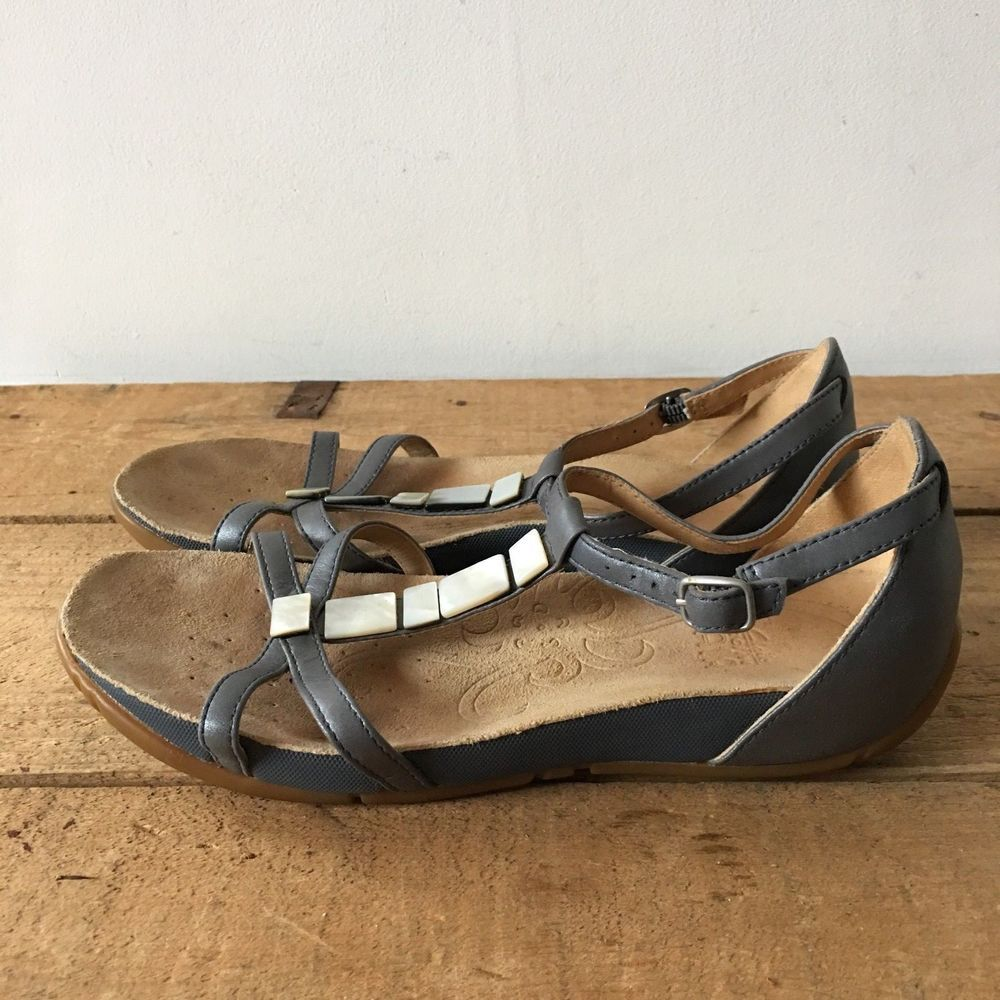 UK SIZE 4.5 WOMENS CLARKS ACTIVE AIR SILVER GREY STRAPPY