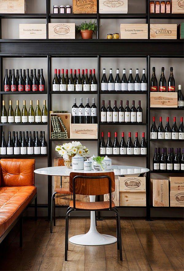 Estanter a con botellas de vino via miblog tienda de - Estanterias de vino ...