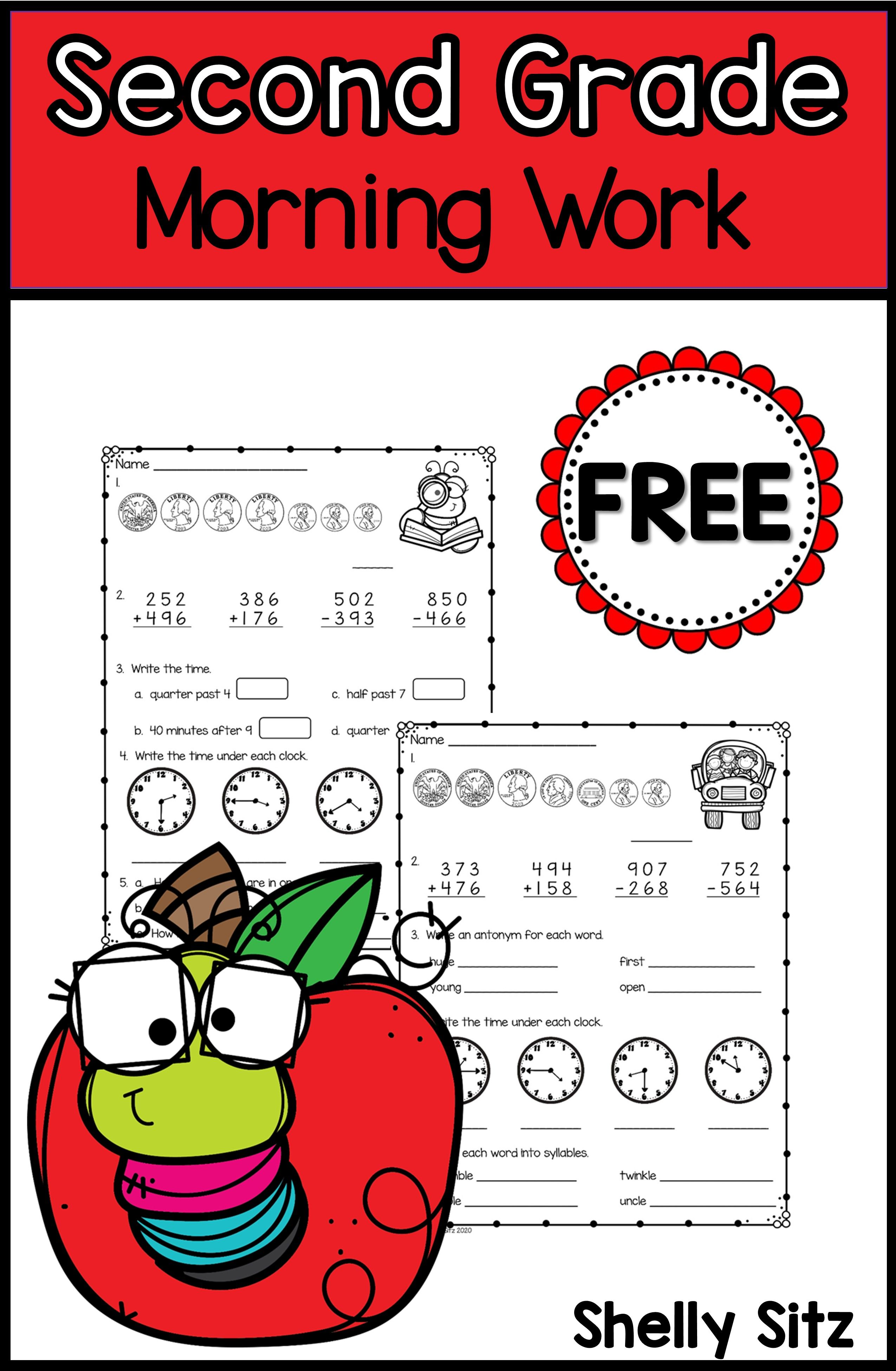 Free Morning Work For Second Grade
