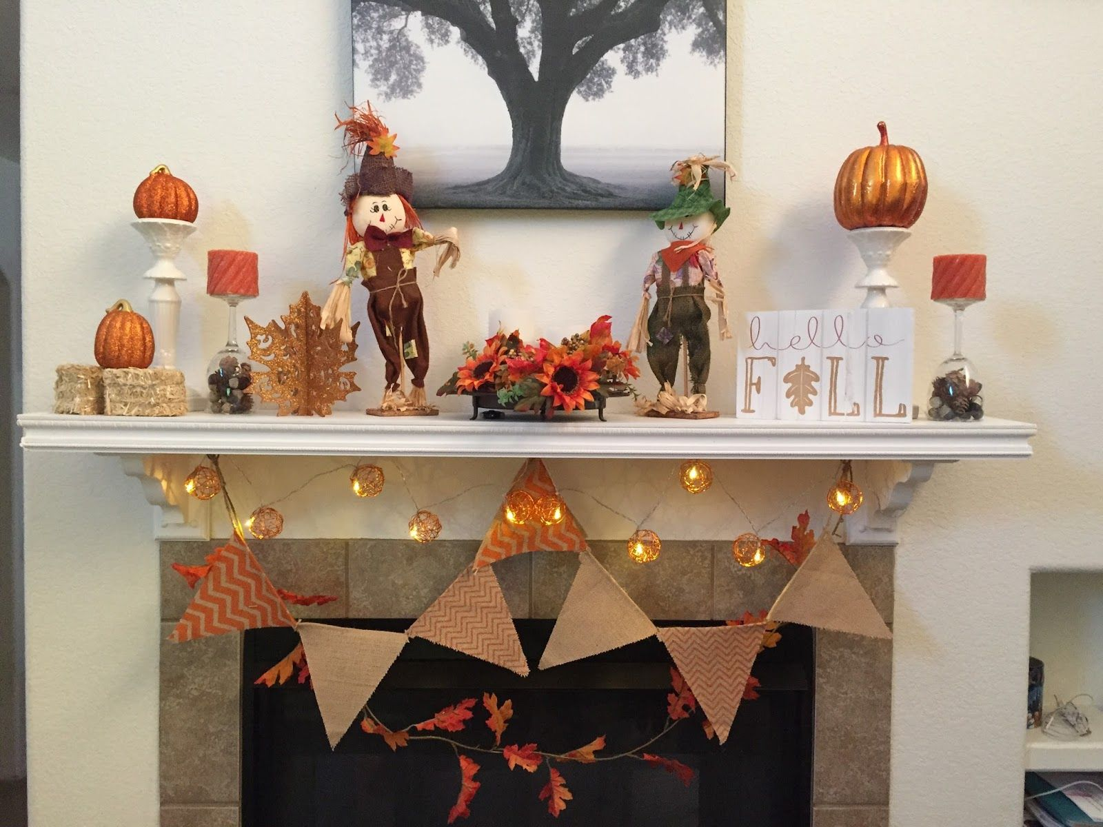 Dollar Tree Home Decor Ideas Part - 41: Image Result For Dollar Store Fall Mantel Decorating Ideas