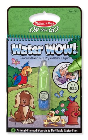 Water Wow Animals On The Go Travel Activity Animal Books Animal Coloring Books Travel Toys