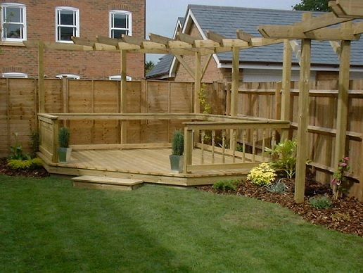 Garden decking ideas google search decking pinterest for Garden decking and grass