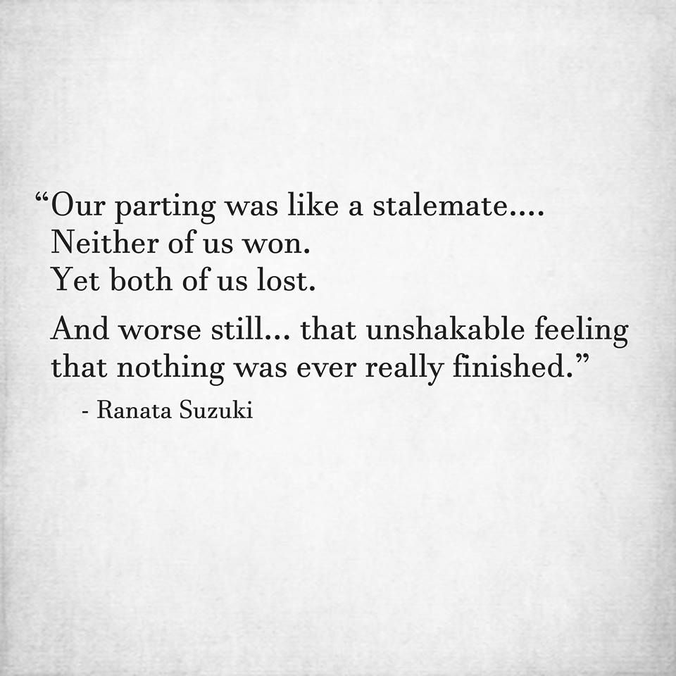 "Exactly...I know that morning you came by Frank Hensley was a ""goodbye"".  I know I lost a lot and we will always be unfinished....."