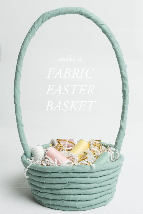 No sew fabric rope easter basket easter baskets easter and cord no sew fabric cord easter basket when you have fabric leftovers and need a basket negle Images