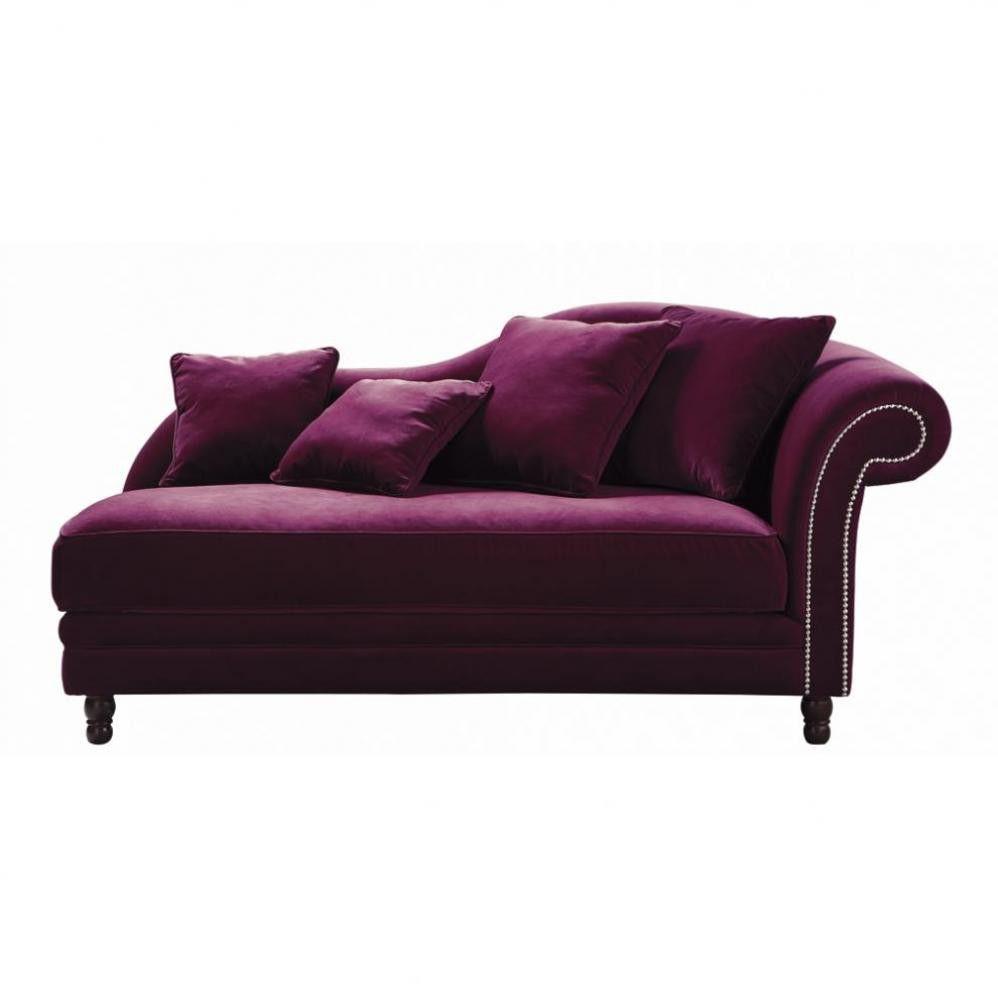 Recamiere ausziehbar  Recamiere 2-3-Sitzer, nicht ausziehbar, Velours aubergine ...