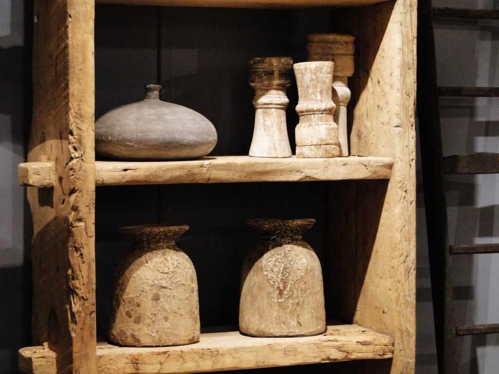 Boekenkast van oud hout Abruzzo - ROBUUSTE TAFELS! Direct uit voorraad of geheel…
