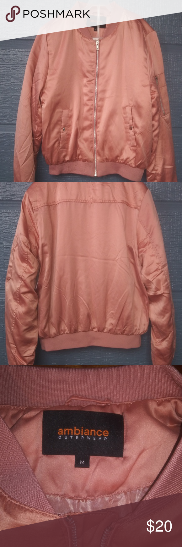 Ambiance Outerwear Bomber Jacket Mauve M New Bomber Jacket Jackets Clothes Design [ 1740 x 580 Pixel ]
