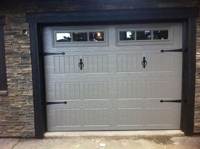 Regina Overhead Door Install With Black Hardware Tera Bronze In Color Garagedoortrends Garagedoorst Garage Doors Carriage House Doors Garage Door Styles