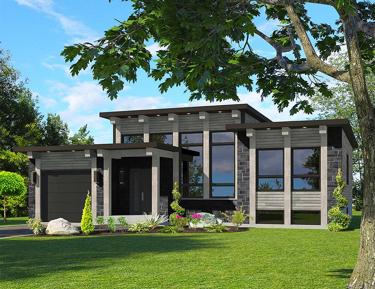 Plan 90286pd Attractive Modern House Plan Modern House Plan House Plans Modern House Plans