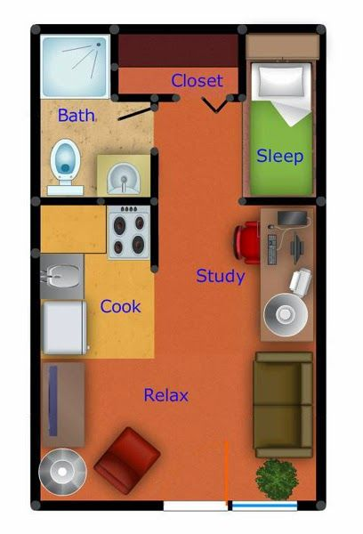 Apartment Floor Plan how about a barn door instead for the