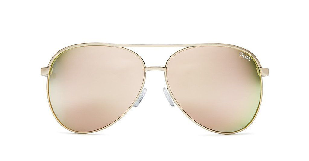 de40d0609652a Quay Australia Vivienne Rose Gold Aviator Sunglasses - Holly   Brooks