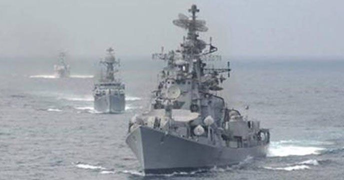 New Delhi Indian Navy S Stealth Frigate Ins Trishul On Monday Marked The Navy Day At The Port Of Salalah In Oman South China Sea Navy Day Indian Coast Guard