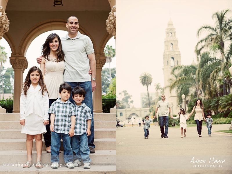 Balboa park portrait session rafii family san diego portrait photographer