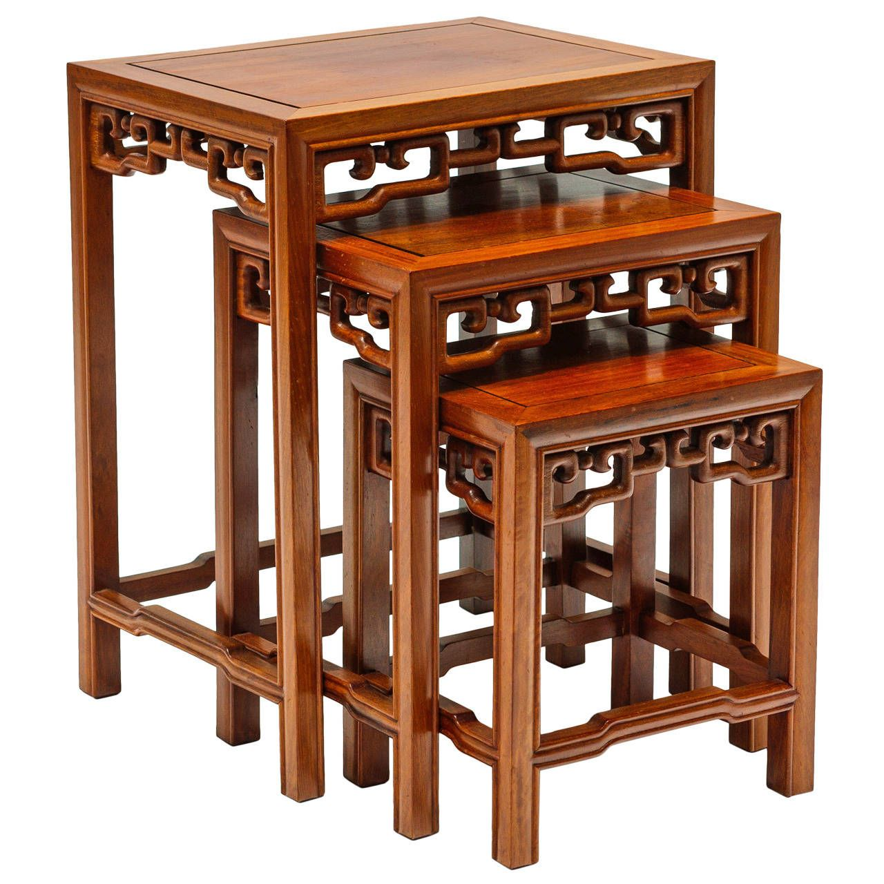 View This Item And Discover Similar Nesting Tables And Stacking Tables For  Sale At   Set Of 3 Asian Modern Teak Nesting Tables.