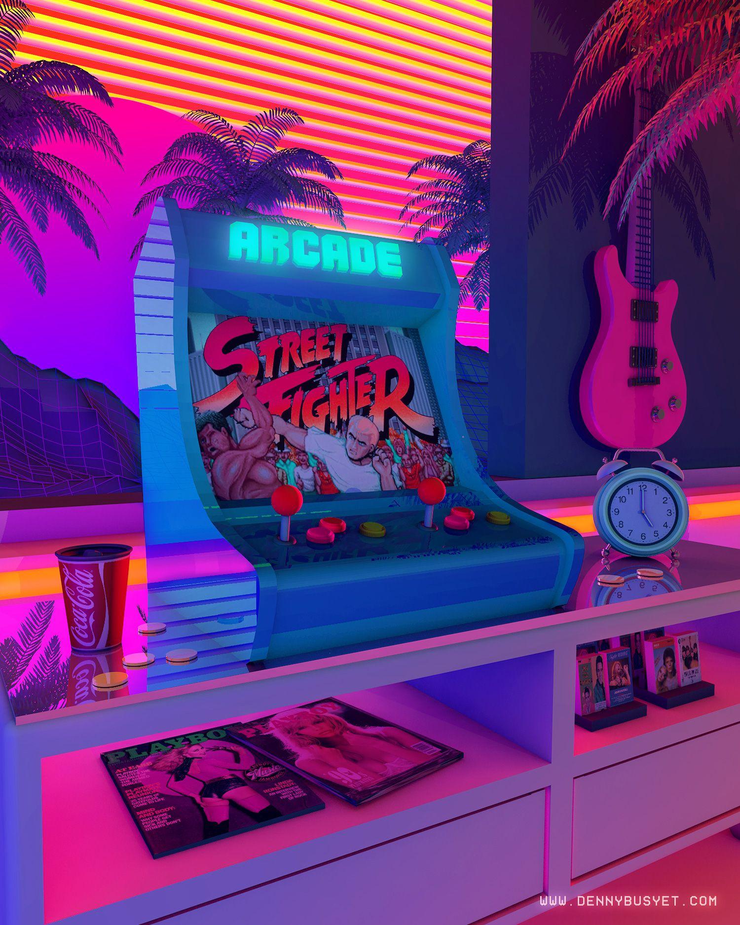 Arcade Dreams By Denny Busyet Cyberpunk Aesthetic Retro Waves Vaporwave
