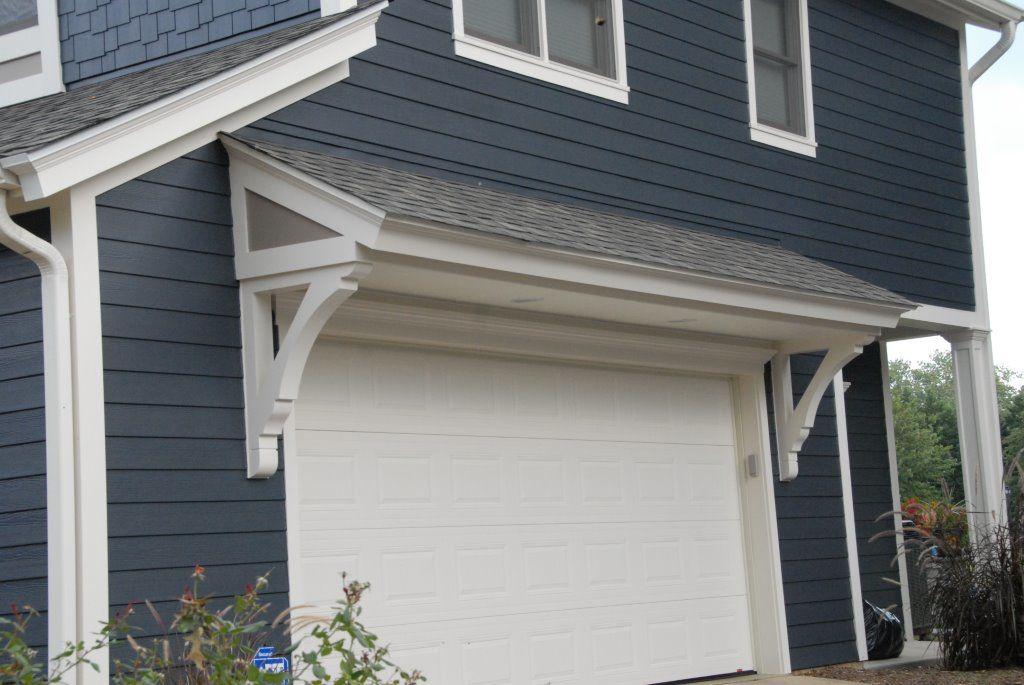 over hang solutions Exterior garage door, Lake houses