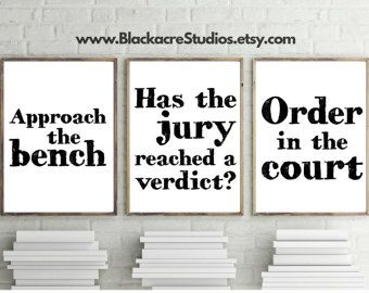 Famous Legal Quotes Print Set Gift Pack Law By BlackacreStudios